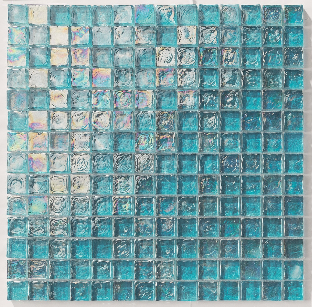 "Turquoise Kitchen Wall Tiles: Tiles And Deco TURQUOISE 1"" X 1"" GLASS MOSAIC"