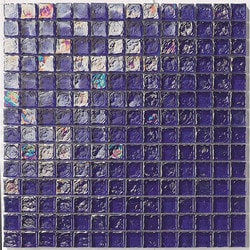 "Tiles & Deco BLUE COBALT 1"" X 1"" GLASS MOSAIC POOL Model 151363261 Kitchen Glass Mosaics"