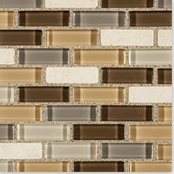 Cabot Mosaic Tile Glass Stone Blends Model 100772221 Kitchen Wall Tiles
