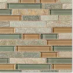 Cabot Mosaic Tile Glass Stone Blends Model 100791451 Kitchen Wall Tiles