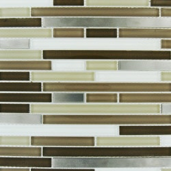 Cabot Mosaic Tile Glass Stone Blends Model 100982021 Kitchen Wall Tiles