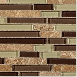 Cabot Mosaic Tile Glass Stone Blends Type 100772021 Kitchen Wall Tiles in Canada