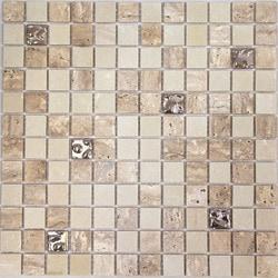 Optico Glass Mosaic Venus Series Travertine Marble