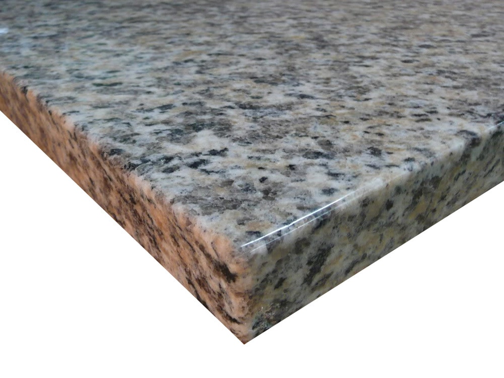 Centaur Granite Countertops Leopard Tan / Counter Top Blank with Eased ...