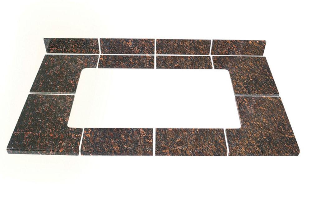 Pedra granite modular kitchen tiles topstone collection for Modular kitchen slab