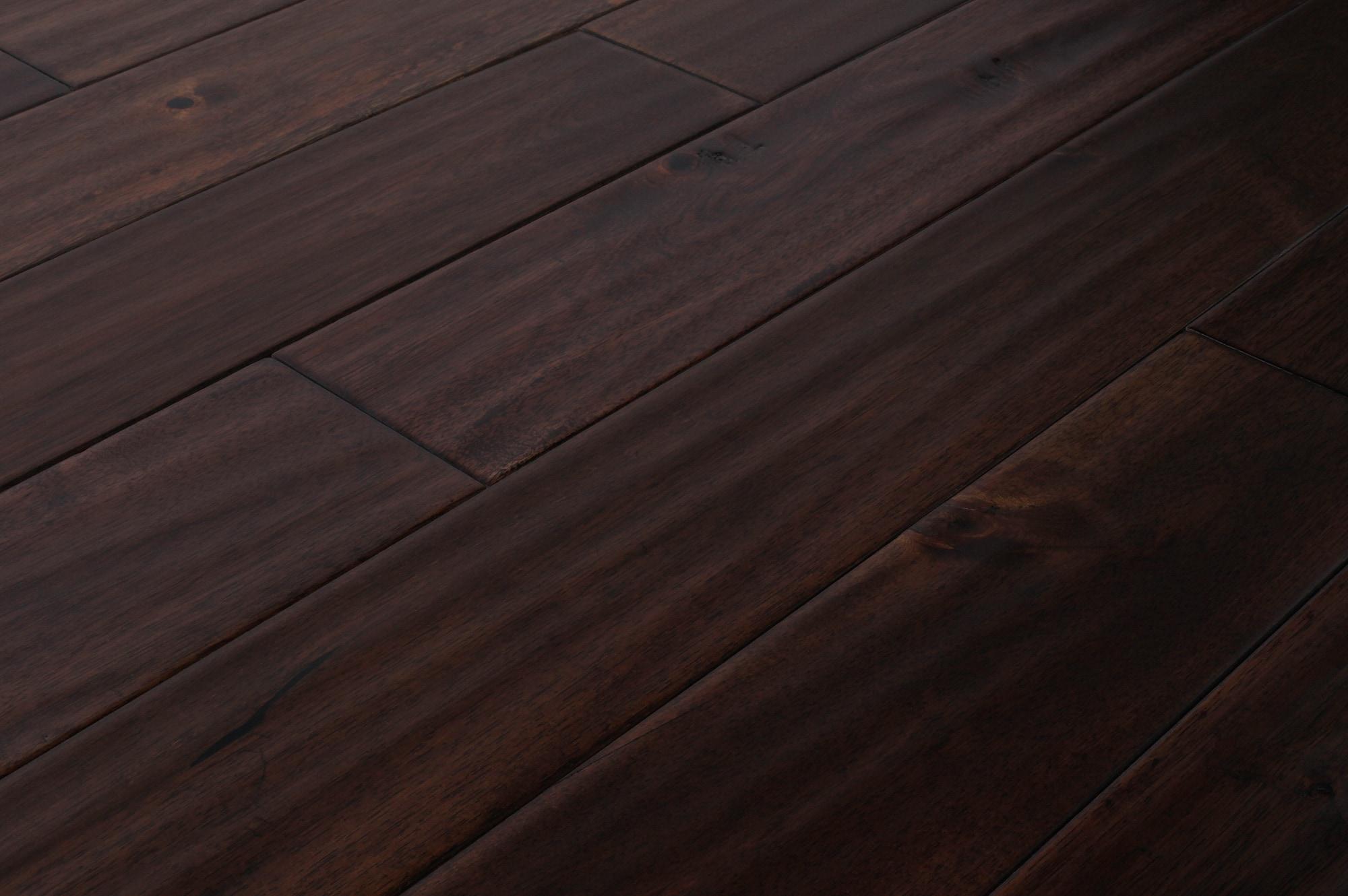 Mazama hardwood handscraped acacia collection oolong for Acacia hardwood flooring