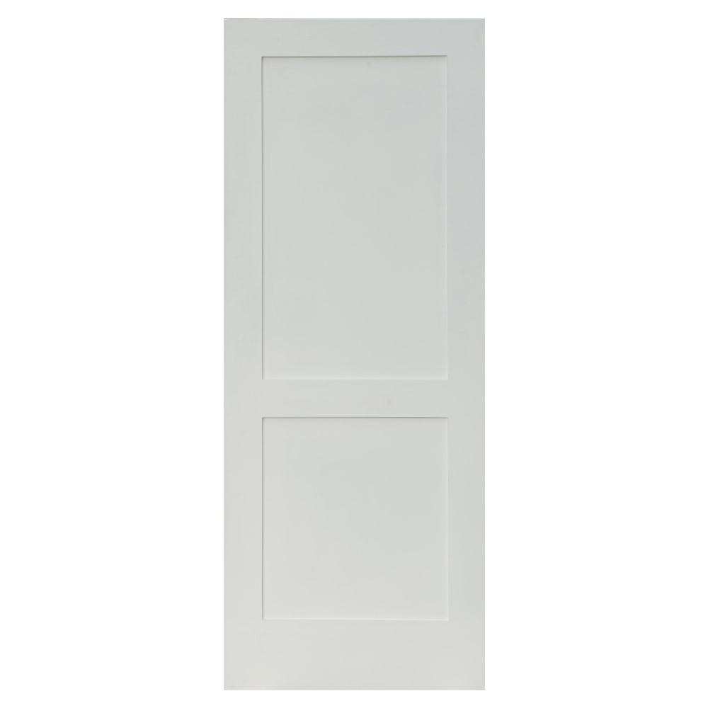 Garson interior doors shaker slab collection primed mdf smooth 24 x80 reversible 2 panel - Interior shaker doors panel ...