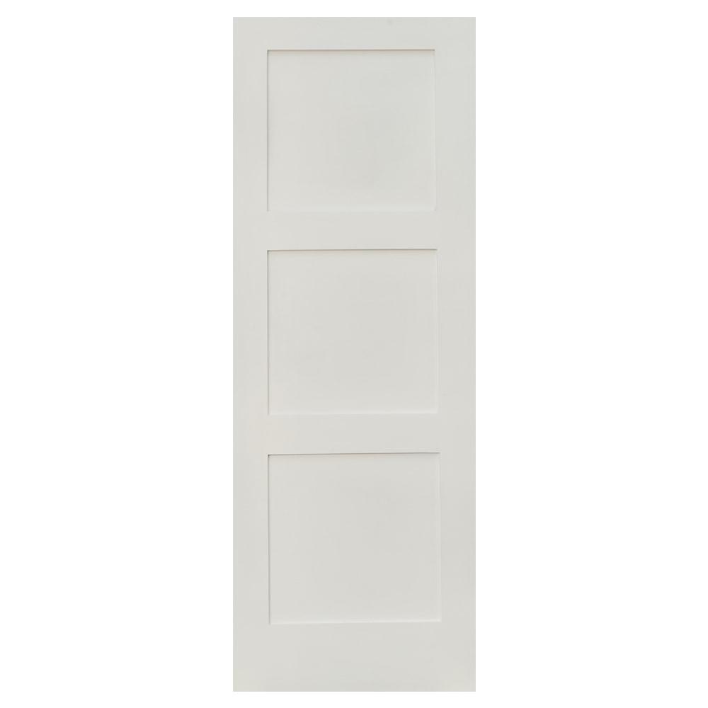 Garson Interior Doors Shaker Slab Collection Primed Mdf Smooth 24 X80 Reversible 3 Panel