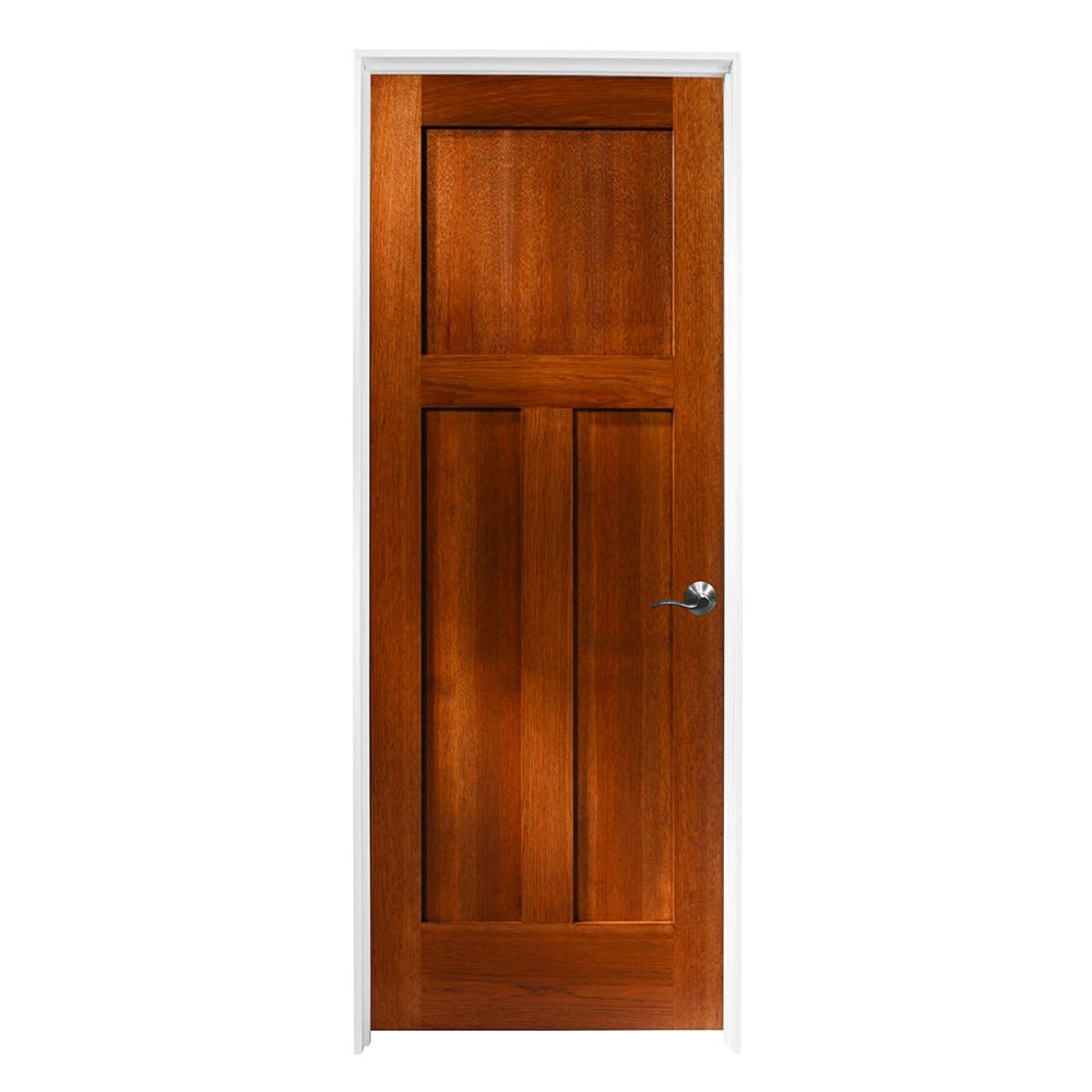 Woodport doors interior doors knock down shaker collection riverbed hickory 30 x80 left for Prehung hickory interior doors