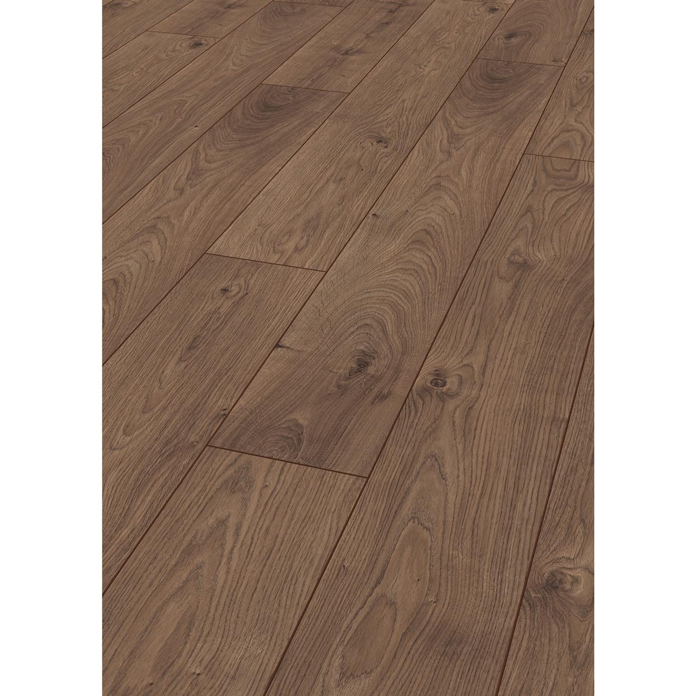Kronotex laminate robusto 12 mm collection atlas oak coffee for Robusto laminate flooring