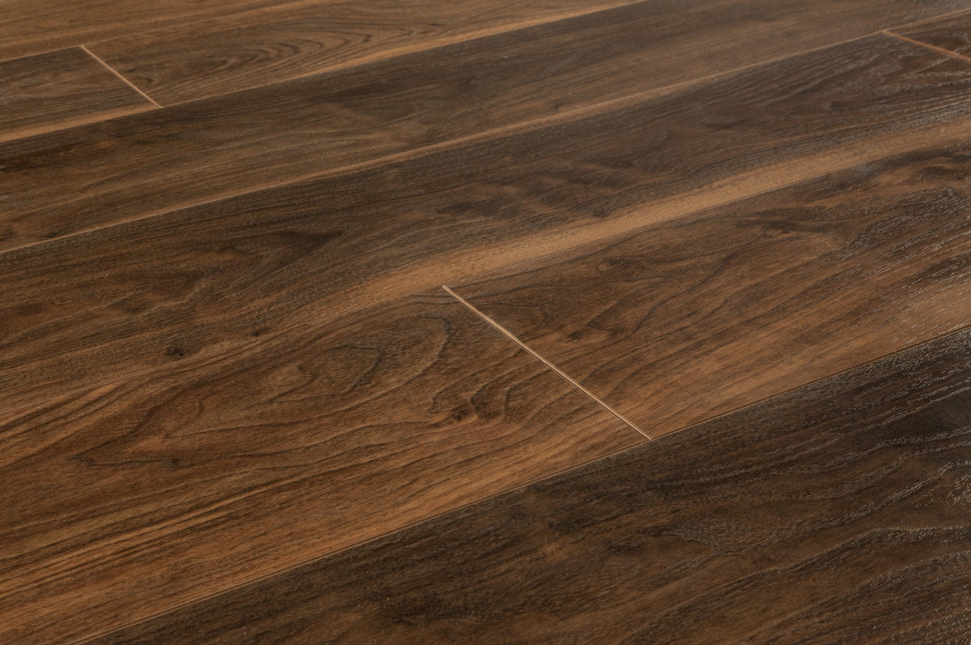 Lamton laminate 12mm american walnut collection charcoal for Walnut laminate flooring