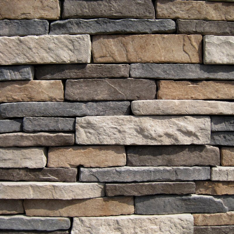 Black bear pallets manufactured stone southern stacked for Stone facade siding