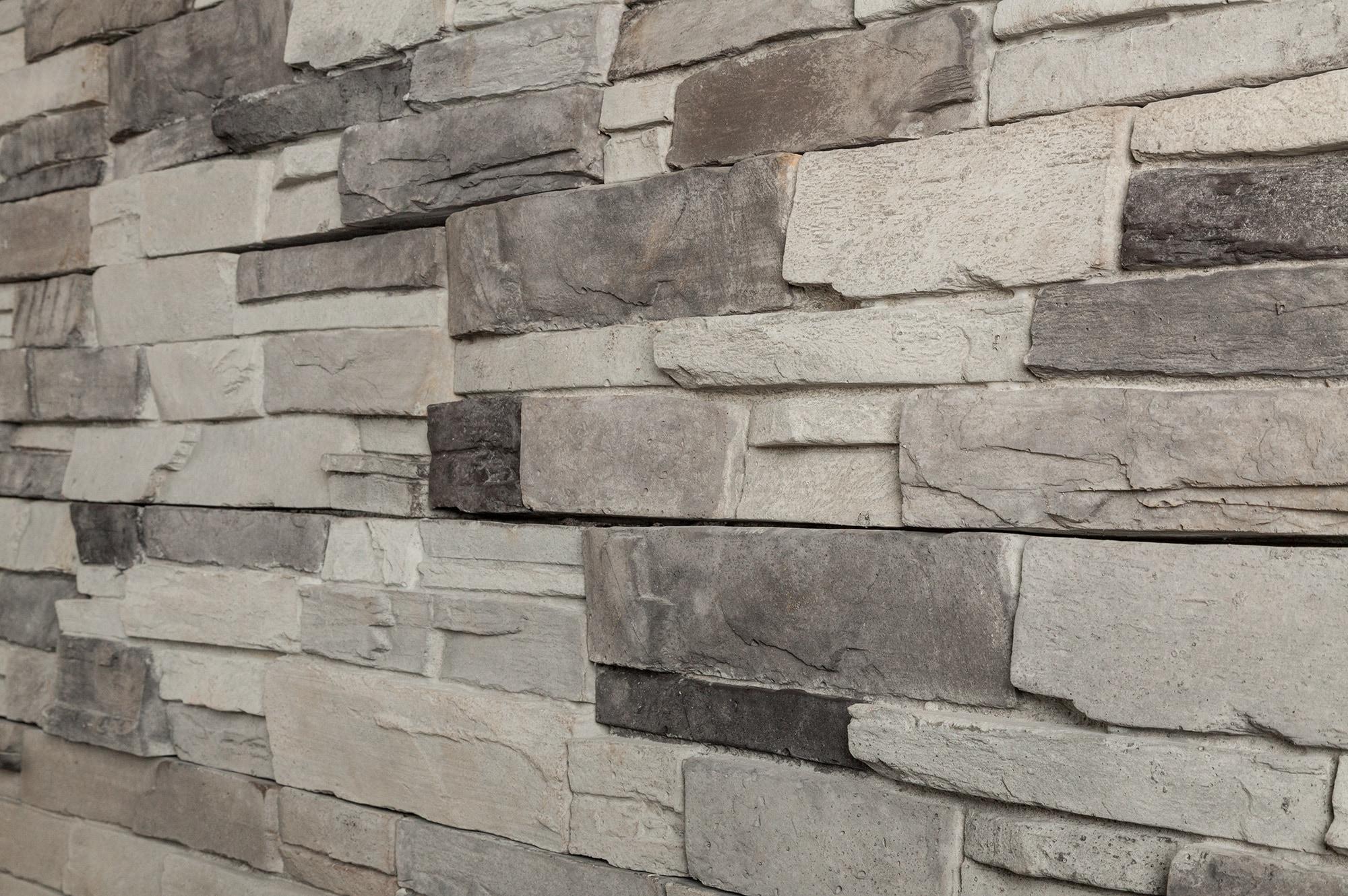 Staket stones interi rinspiration och id er f r hemdesign for Stacked stone house