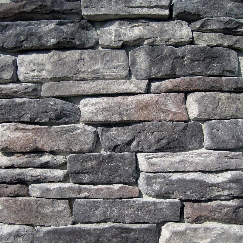 Black bear pallets manufactured stone ledge stone for Stone facade siding