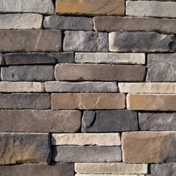 Black Bear Manufactured Stone Southern Stacked Stone Model 101007191 Manufactured Stone Veneer