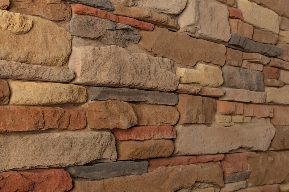 M rock install with screws manufactured stone ledge for Manufactured brick veneer