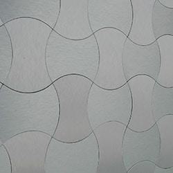Salerno Mosaic Tile Peel & Stick Aluminum Metal Series Model 101043721 Kitchen Metal Mosaics