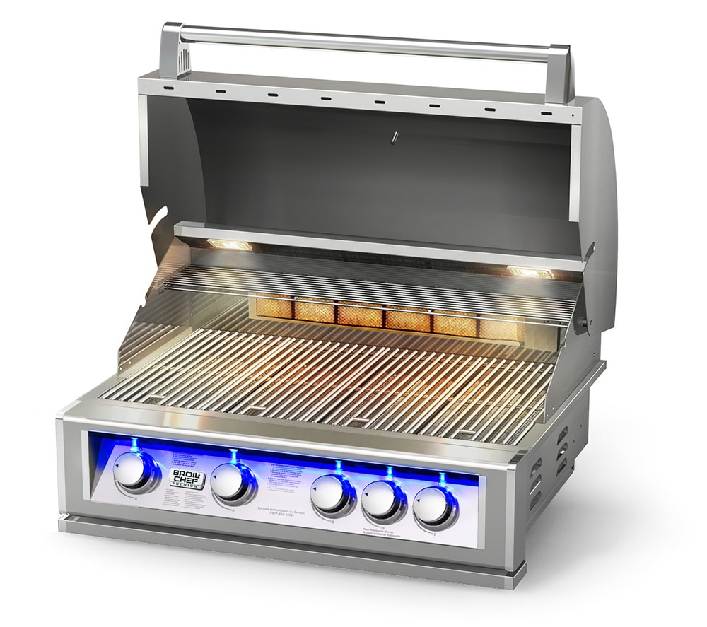 broilchef natural gas grills pro series 32 inch built in lp gas bbq grill with blue led. Black Bedroom Furniture Sets. Home Design Ideas