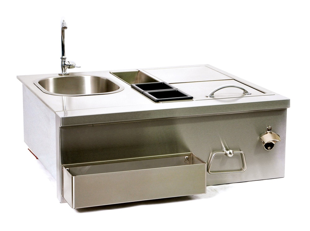 Single Stainless Steel Sink : BroilChef Stainless Steel Sink & Bar Single Sink Bartender Station