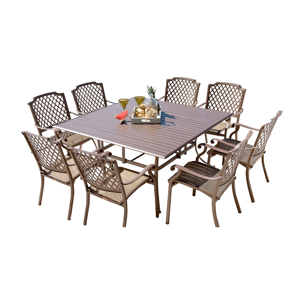 Panama Jack Island Breeze Collection Slatted Dining Set 9 Piece