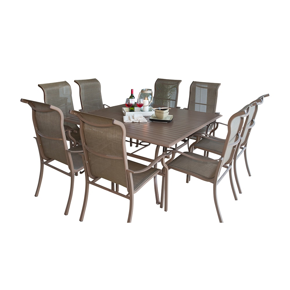 Panama Jack Island Breeze Collection Slatted Group Dining Group 9 Piece