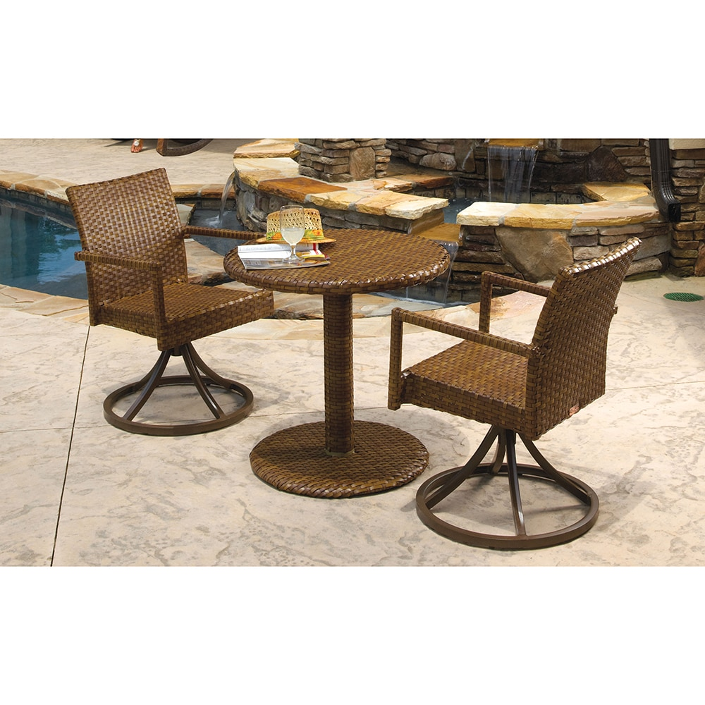 Panama Jack St Barths Collection Swivel Bistro Set 3 Piece