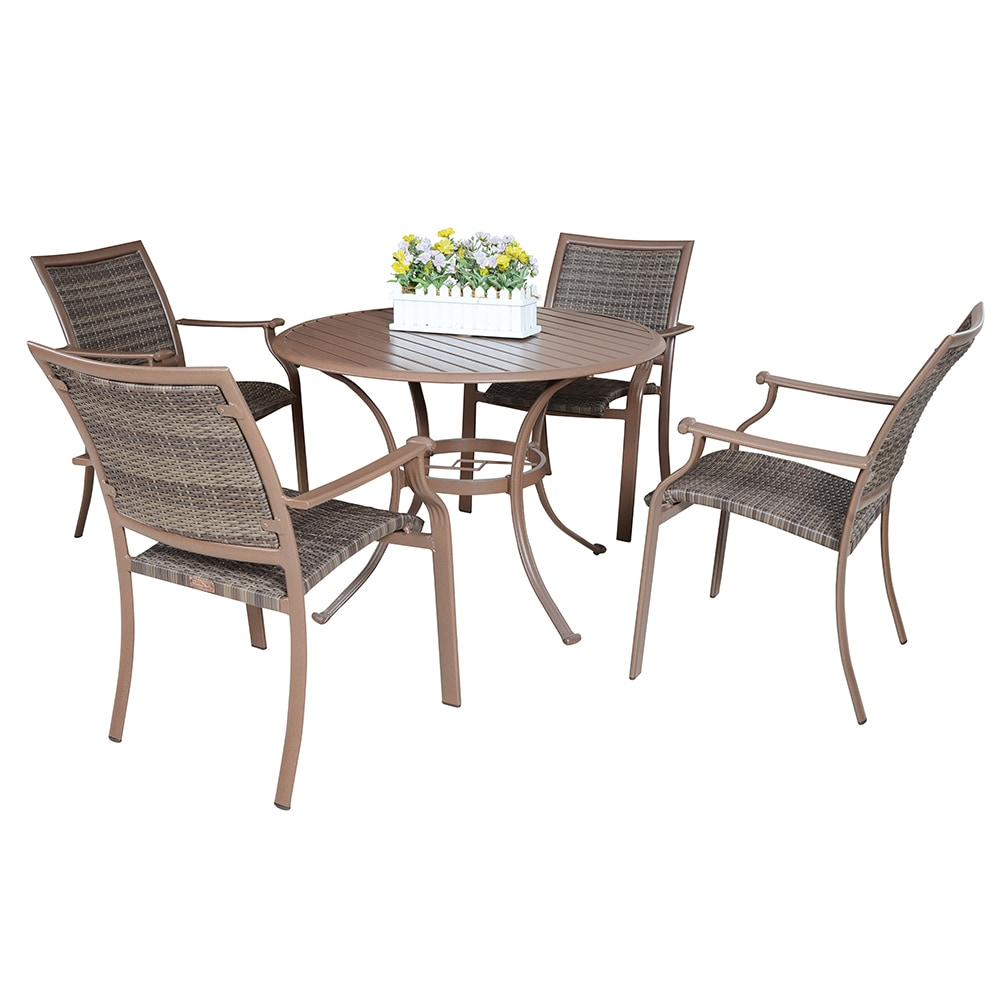 Panama jack island cove collection dining set 5 piece for Furniture jack