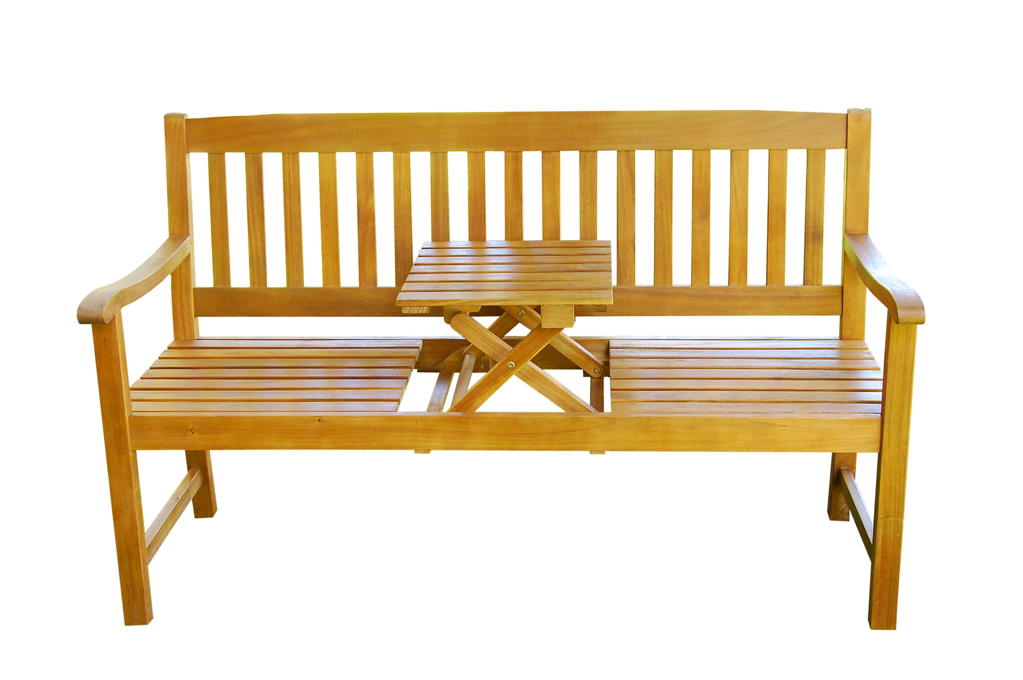 Kontiki Porch Seating Wood Benches Kitsilano Bench With Collapsible Table