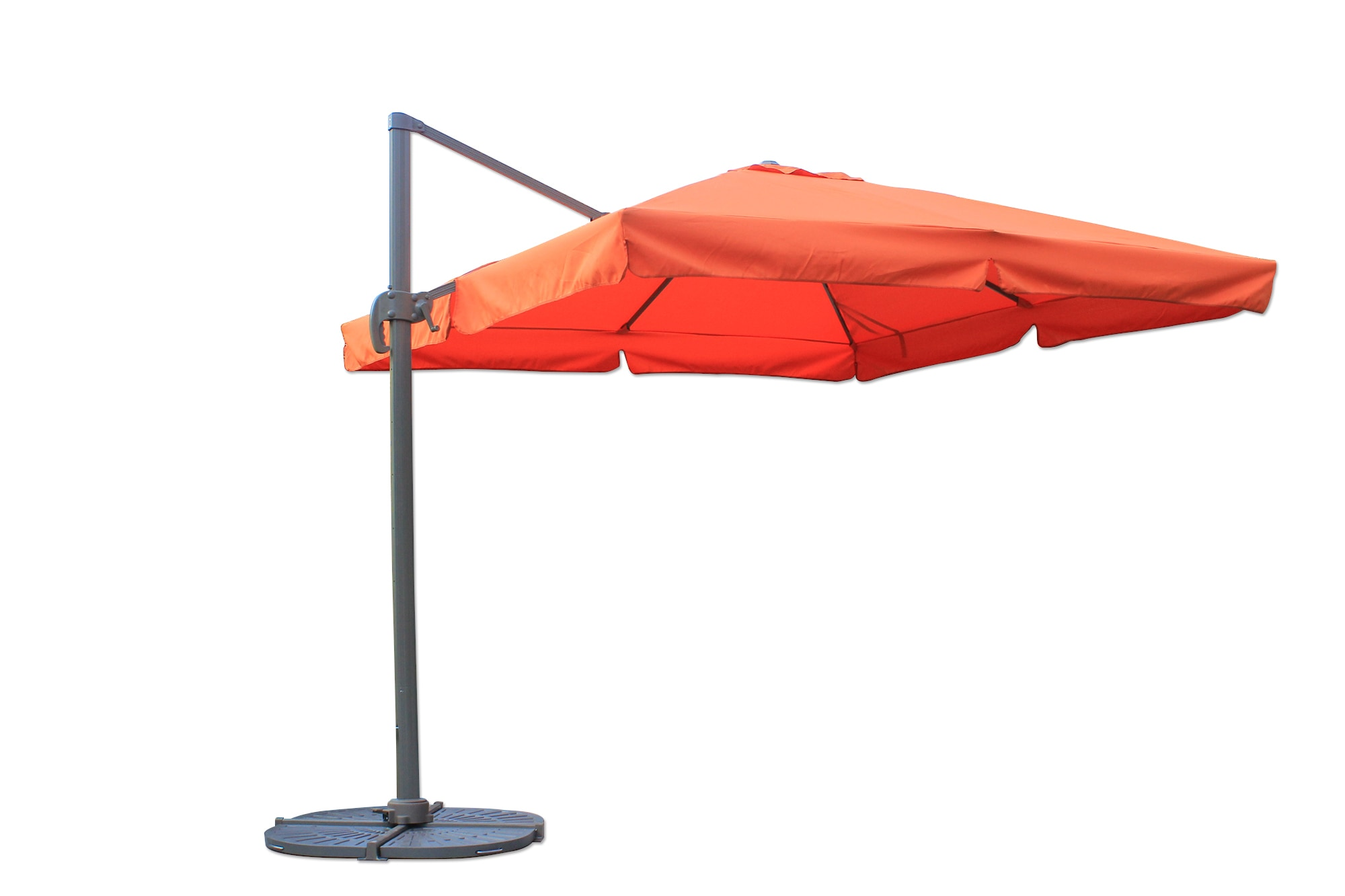offset patio umbrellas 10 ft square offset roma umbrella terracotta