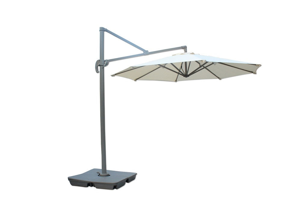 kontiki shade cooling offset patio umbrellas 10 ft round