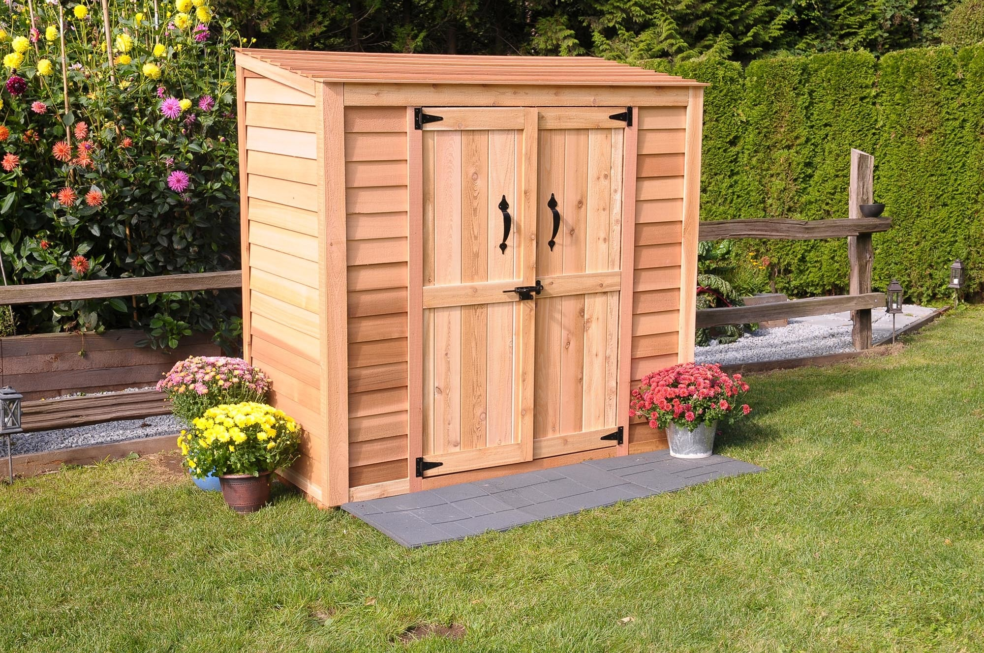Hewetson storage sheds compact series 6 5 39 x 3 39 patio for Outdoor wood shed