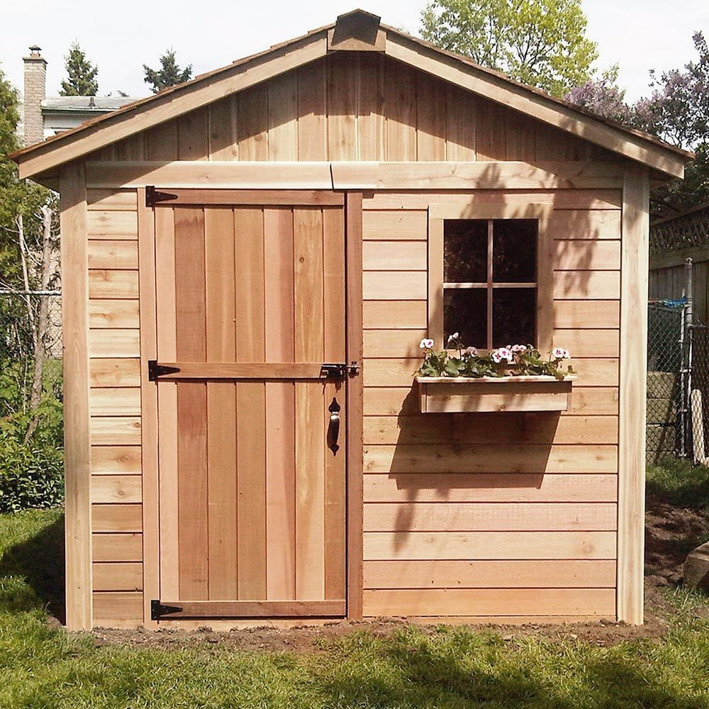Outdoor living today storage shed lifestyle series 8 39 x for Outdoor garden shed