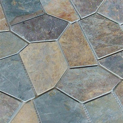 Roterra Slate Tile Meshed Back Patterns Model 150017631 Slate Flooring Tiles