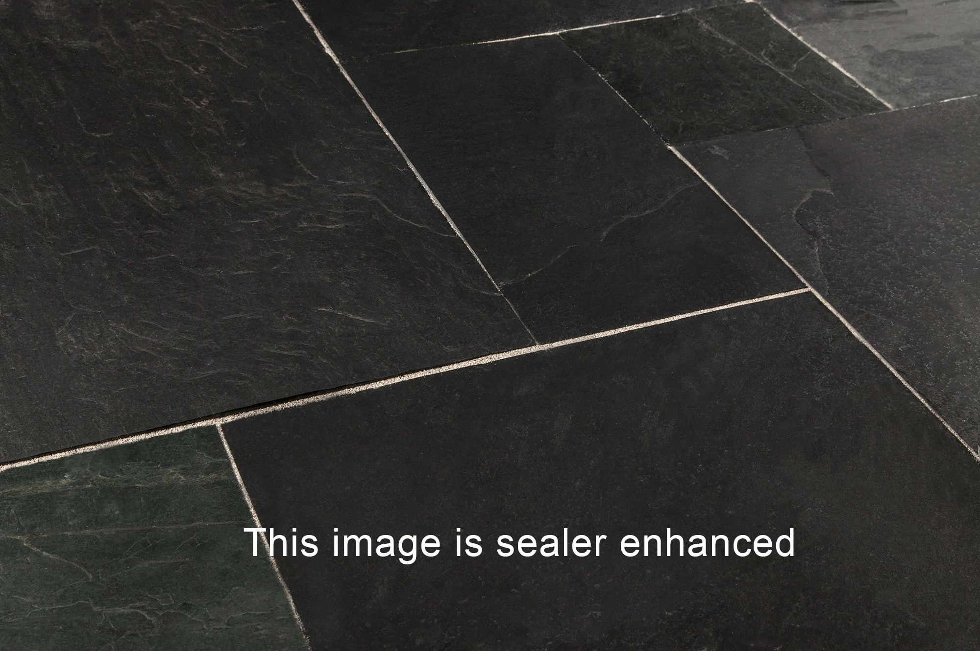 Black Slate Patter : Roterra slate tiles versailles pattern indian black
