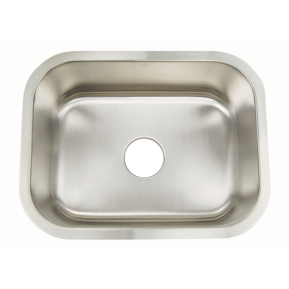 Kitchen Stainless Steel Sinks : Home Kitchen Kitchen Sinks All Products Standard Rectangle Bowl / 16G ...
