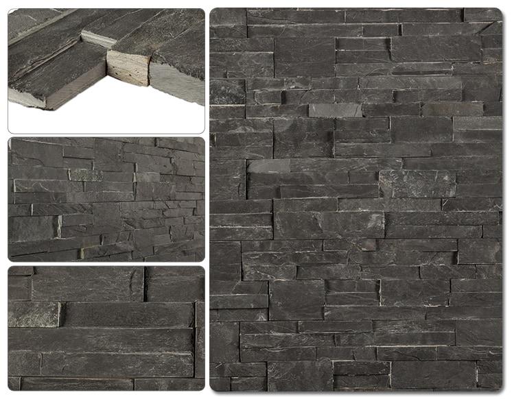 Cabot Natural Ledge Stone Slate Charcoal Ledge Stone 6