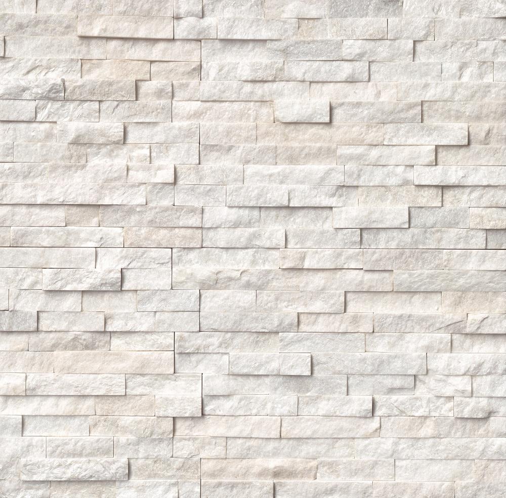 Ms International Stone Siding Slate Arctic White