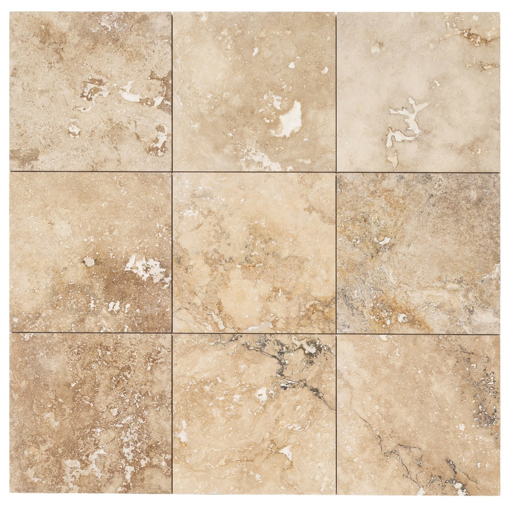 Izmir Travertine Tile Honed And Filled Chiaro Rustic Beige 18 X18 X1 2 Honed And Filled