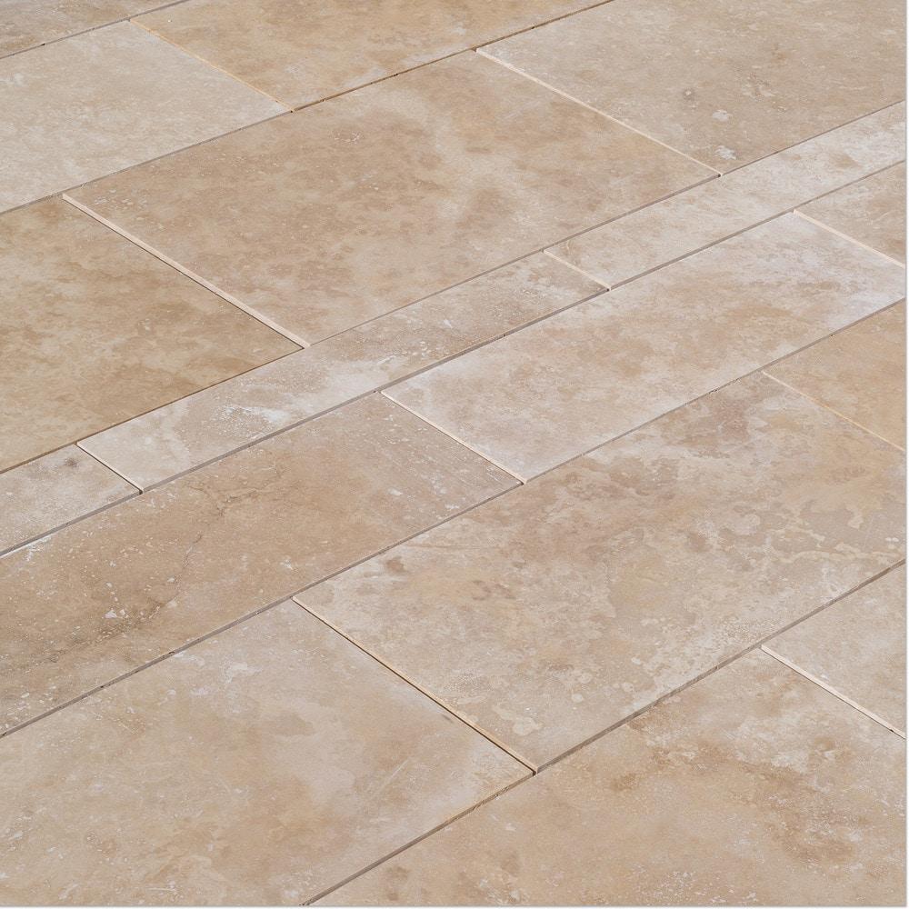 izmir travertine tile honed and filled light beige premium pattern set honed and filled. Black Bedroom Furniture Sets. Home Design Ideas