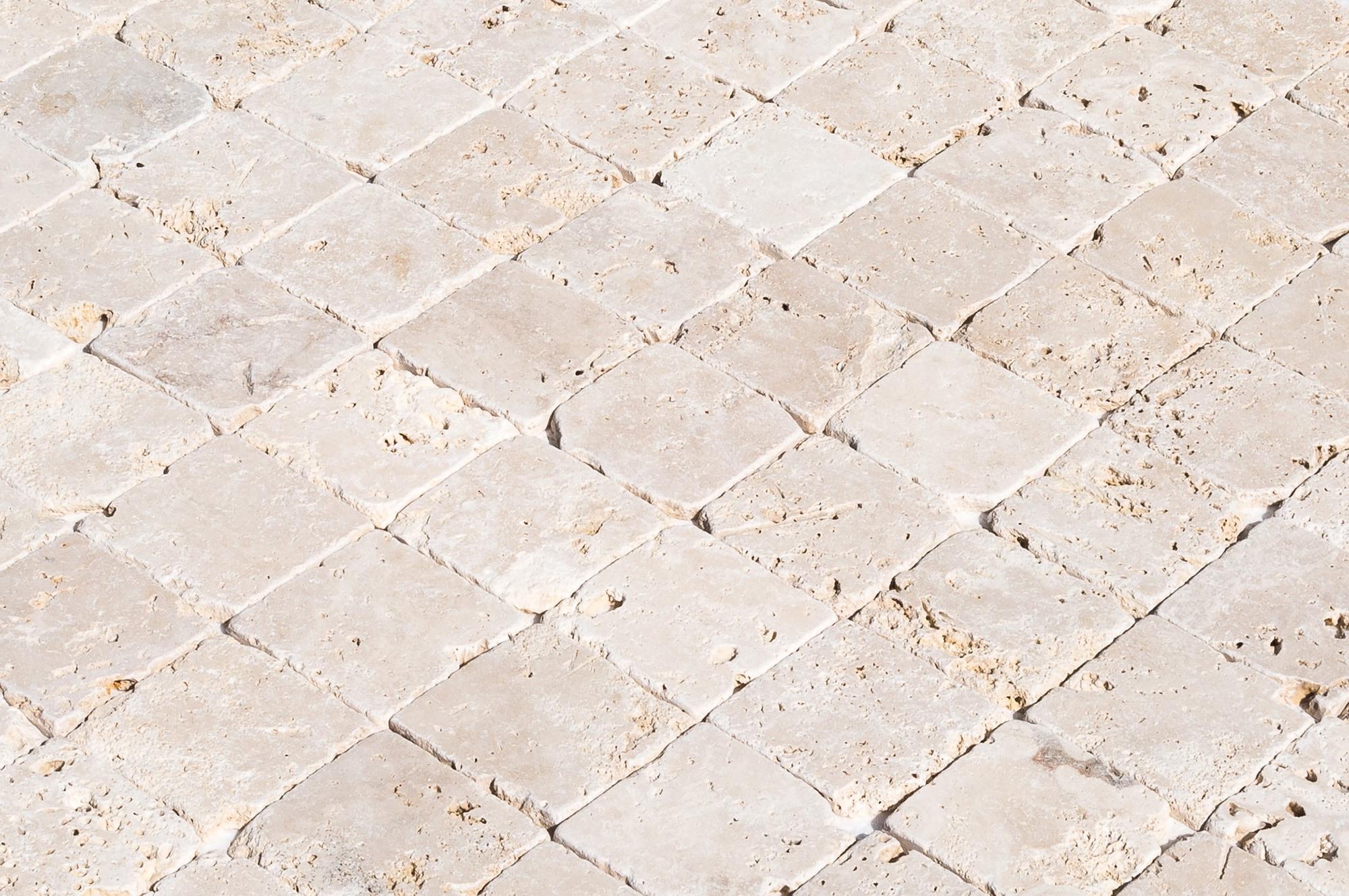 Izmir Travertine Tile Tumbled Rustic Beige 4 X4 X3 8