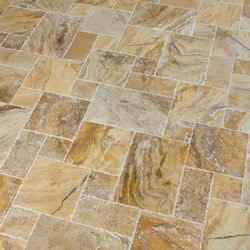 Kesir Travertine Tile Antique Pattern Sets Model 100801111 Travertine Flooring Tiles