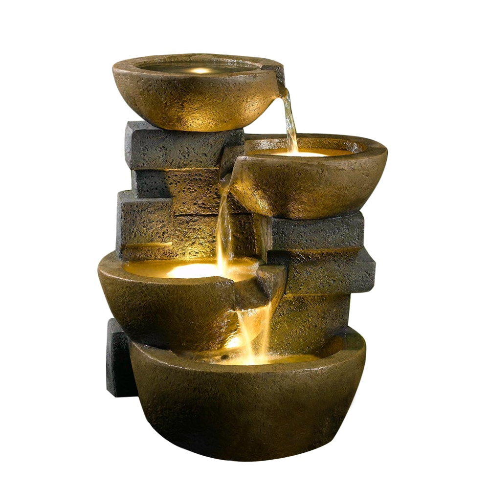 water features decorative pot fountains pots water fountain with led. Black Bedroom Furniture Sets. Home Design Ideas