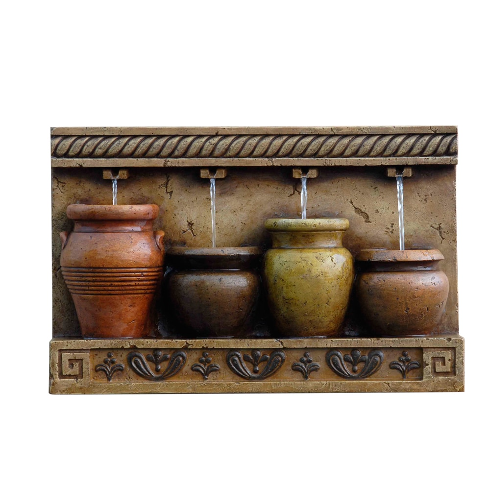 Kontiki water features decorative pot fountains colorful for Wall water fountain