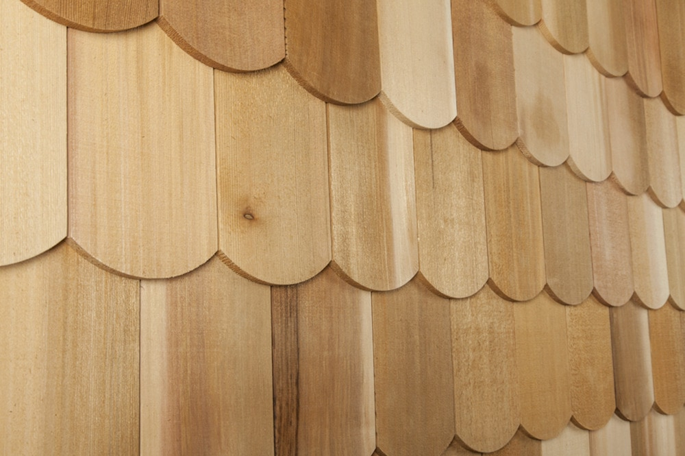 Cedar west cedar decorator shingles wide fishscale 4 15 16 for Fish scale shingles