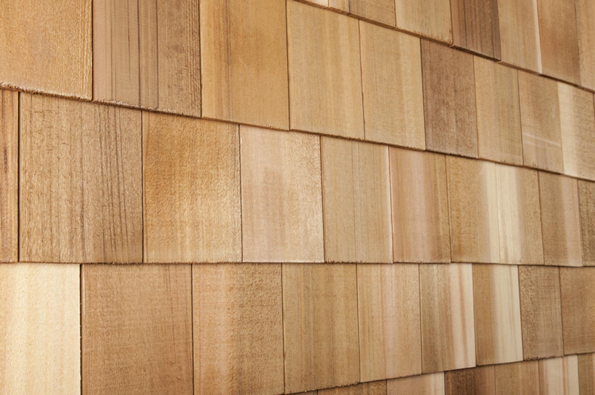 Cedar west cedar decorator shingles wide square 4 15 16 x for Siding square