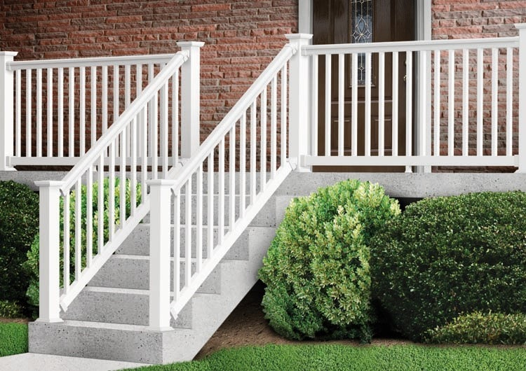 Kontiki deck railing vinyl prestige classic classic white stair kit 36 x72 - Vinyl railing reviews ...
