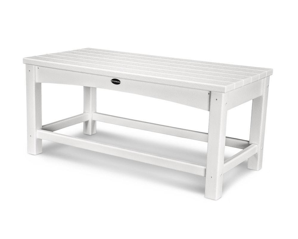 polywood club coffee table 1 piece white