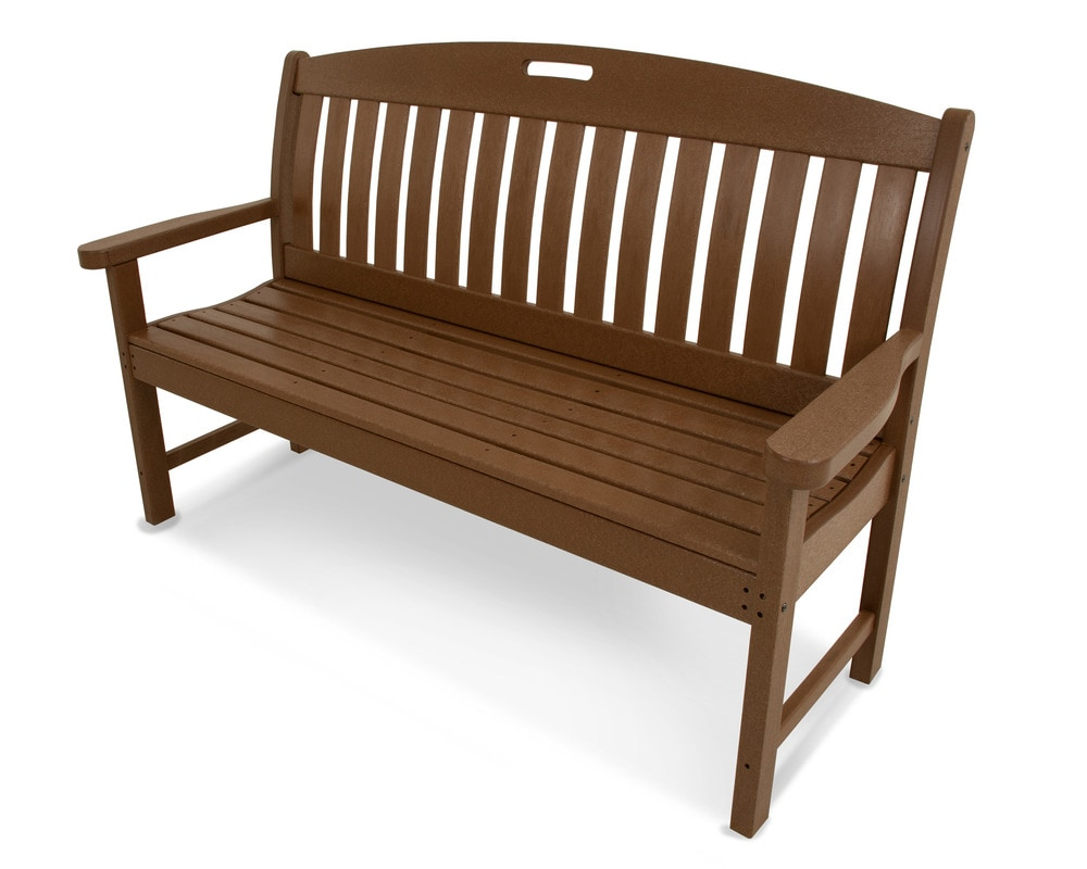 "POLYWOOD Nautical 60"" Bench Teak 1 Piece"