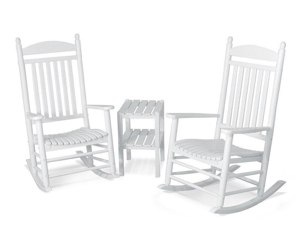 POLYWOOD® Rocker Jefferson Rocker / 3-Piece / White