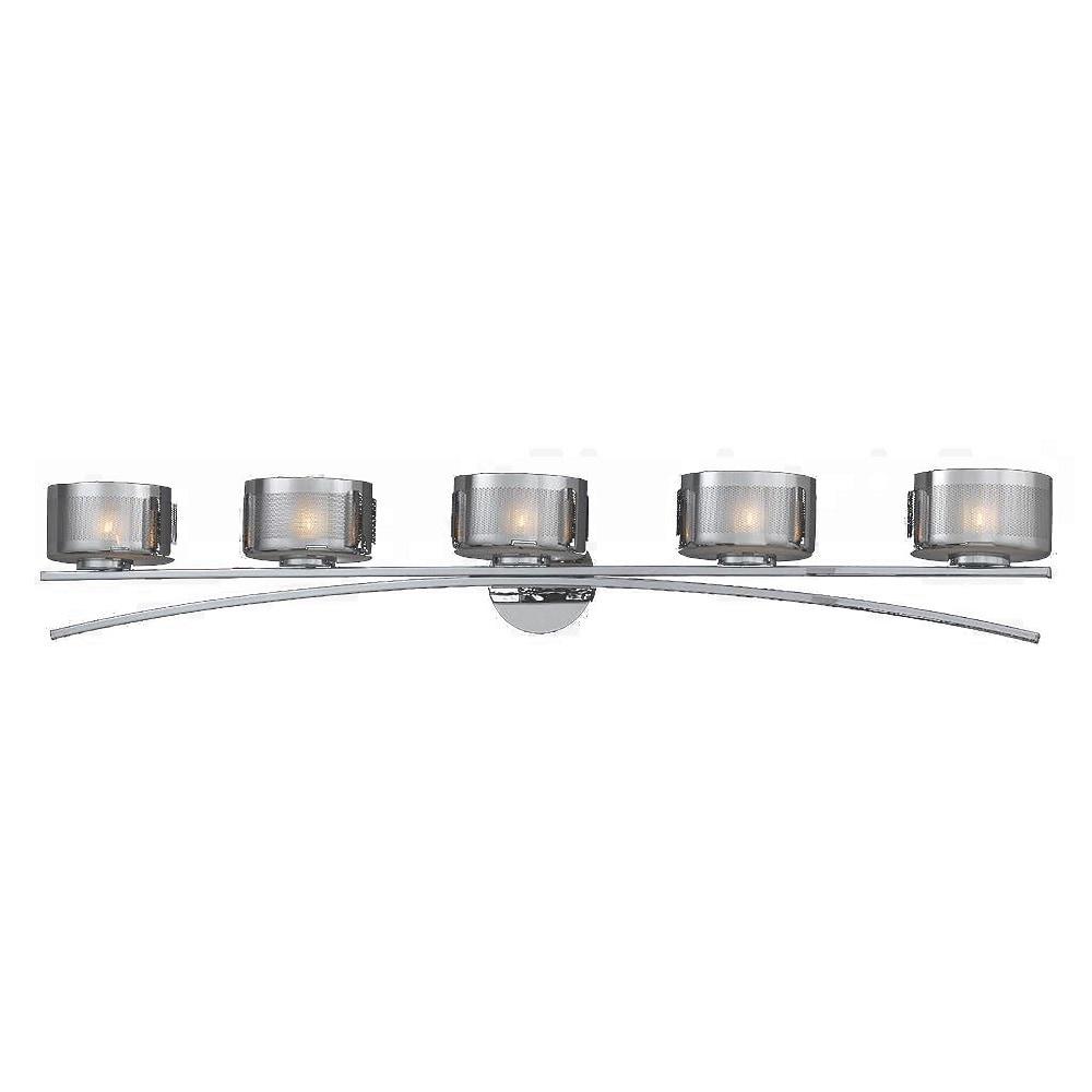 Halogen Vanity Light Bulbs : Lumenno International Lumenno Bath Vanity 2008-00-05 / 5 Lights / Chrome plated finish / Halogen